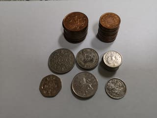 Lote monedas antiguas de Inglaterra