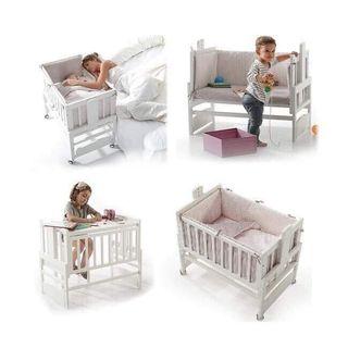 Minicuna con colchón orgánico para bebé