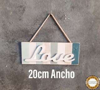 Cartel LOVE Estilo Nordico 20cm Ancho