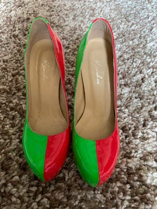 Kandee shoes Apple sours two toned platform shoes