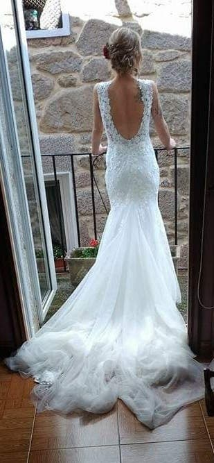 a6b0a9e22 Vestido de novia de segunda mano en WALLAPOP
