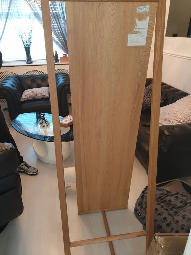 ercol oak mirror