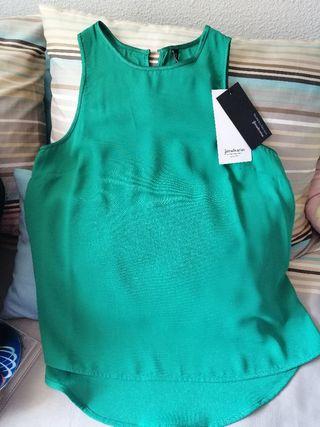 Blusa stradivarius verde