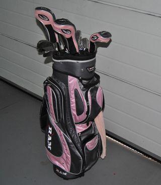 Juego zudo de palos de golf mujer niña