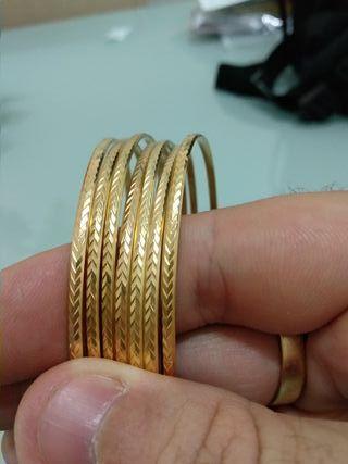 9c0e7bfd0165 Pulsera de oro macizo de segunda mano en WALLAPOP