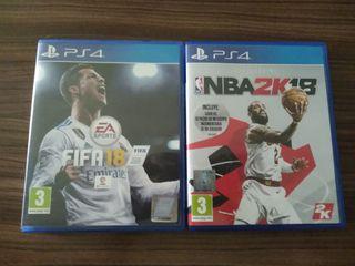 Pack FIFA 18 + NBA 2K18