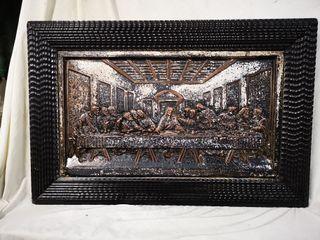 Cuadro grabado cobre Ultima Cena Jesucristo