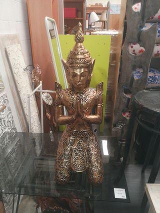 Figura Shiva arrodillada dorada