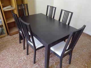 De En Negra Provincia Segunda Mano La Zaragoza Mesa Comedor BdoerCx