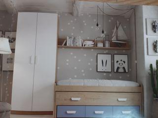 Dormitorio Individual con cama compacta