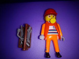 playmobil obrero con caja herramienta