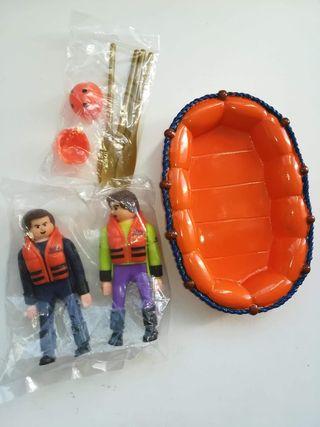 Airgamboys Rafting con Bote Y dos Figuras