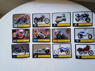 cromos motos (49 en total) + 16 sobres sin abrir