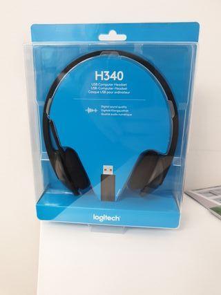 headset de ordenador conectado a usb logitech