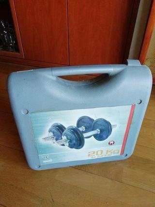 Kit de PESAS/MANCUERNAS (20kg)
