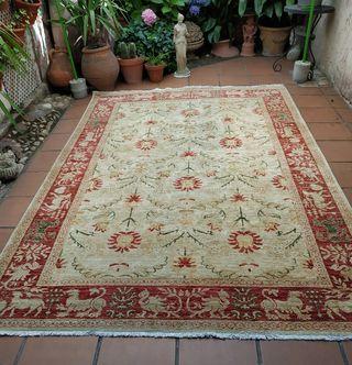 alfombra nudo español