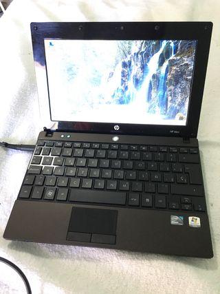 """Portatil HP Mini negro metal 10"""" con su cargador"""
