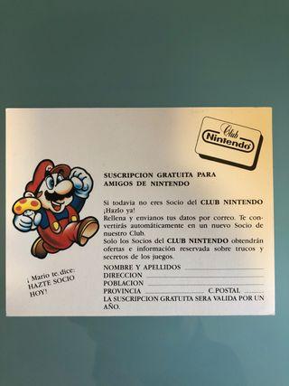 Club Nintendo suscripción amigos tarjeta