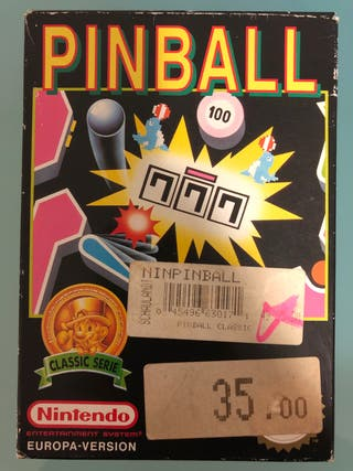 Pinball Nintendo NES Europa-Version PAL