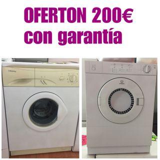 Lavadora +secadora con garantía