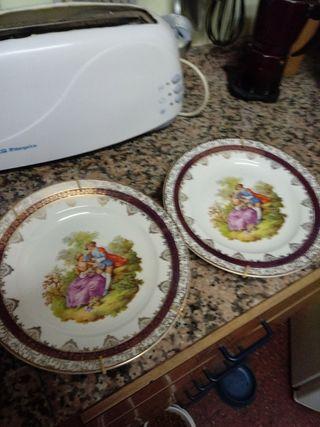 platos vintage para colgar