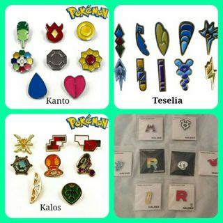 Pokemon pins insignias medallas