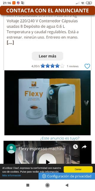 cafetera sgl