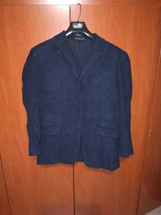 traje caballero caramelo aterciopelado azul marino