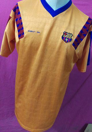 camiseta fútbol Barcelona réplica WEMBLEY