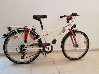 Bicicleta btwin blanca TAGGSY