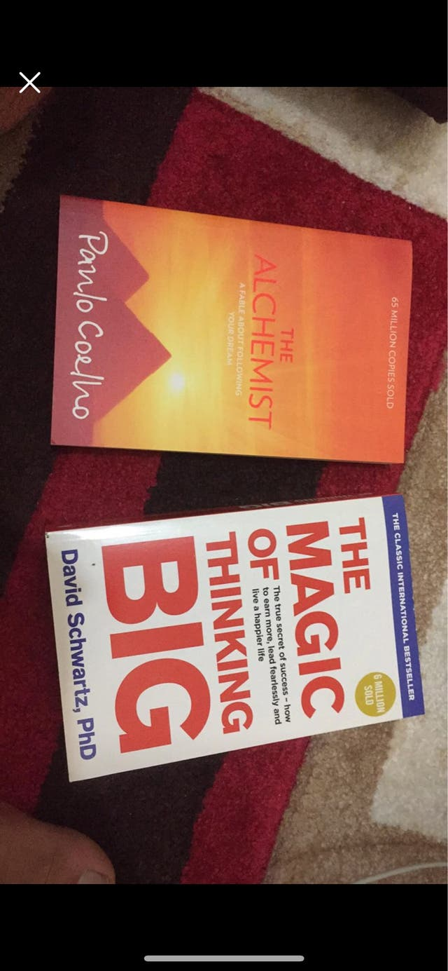 The magic of thinking big and the alchemist