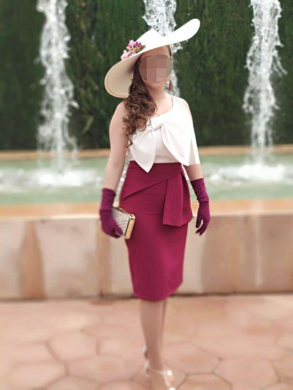 sombrero / pamela y guantes