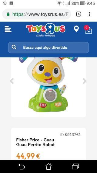 juguete perrito robot