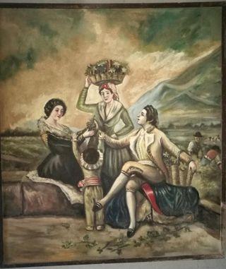 "Óleo ""La Vendimia"" copia de Goya"
