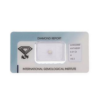Diamante con Certificado IGI de 0,31 Quilates