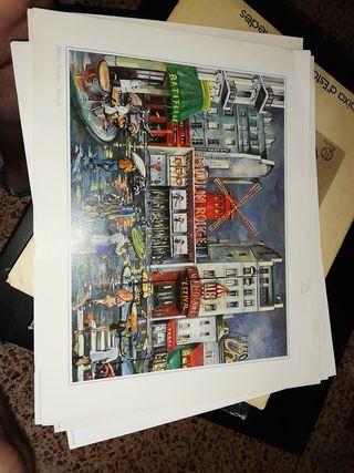 láminas pinturas de paris