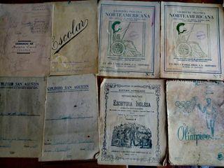 lote cuadernillos escolares años 40