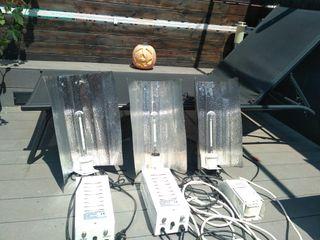 Kit iluminacion 3 completos para cultivo