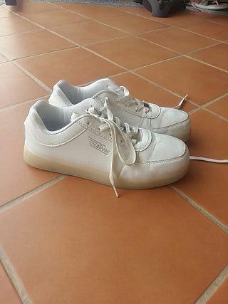 zapatillas silver de luces