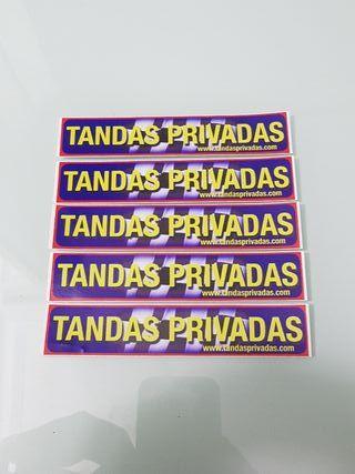 5 Pegatinas TANDAS PRIVADAS