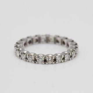 ff55dc92b461 Alianza de oro blanco con diamantes REF  E326221