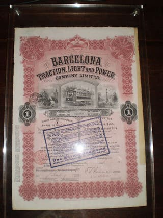 BARCELONA TRACTION LIGHT AND POWER 1913