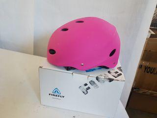 casco rosa skate firefly
