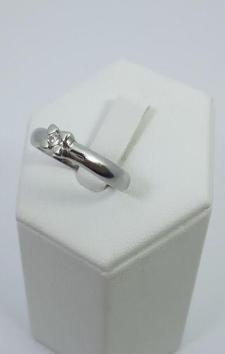 Anillo Oro blanco y Diamante 18kt