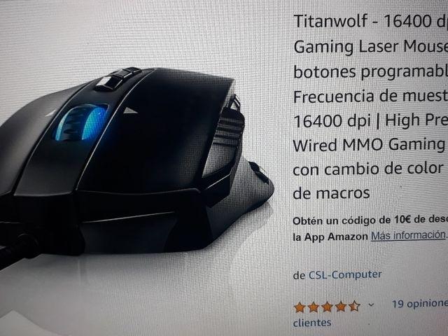Ratón laser gaming Titanwolf