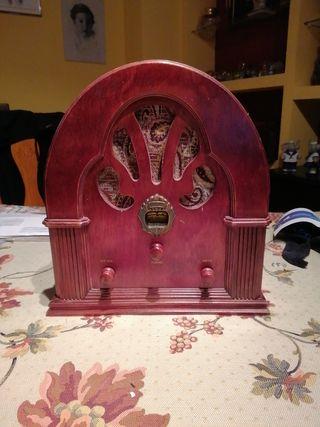 Radio madera imitación antigua