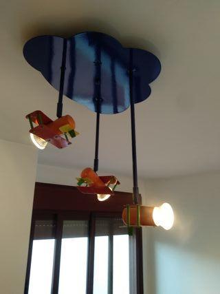 lámpara de techo aviones