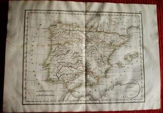 Mapa cartografia España 1835