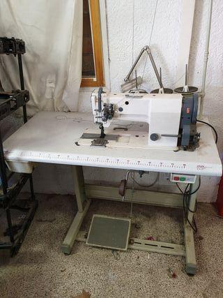 maquina de coser industrial doble aguja