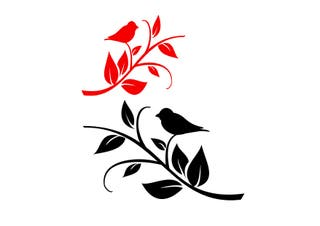 Vinilos decorativos pajaritos y hojas pegatinas